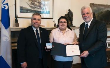 Carolane Flamand, lauréate du Prix d'alphabétisation du Conseil de la fédération